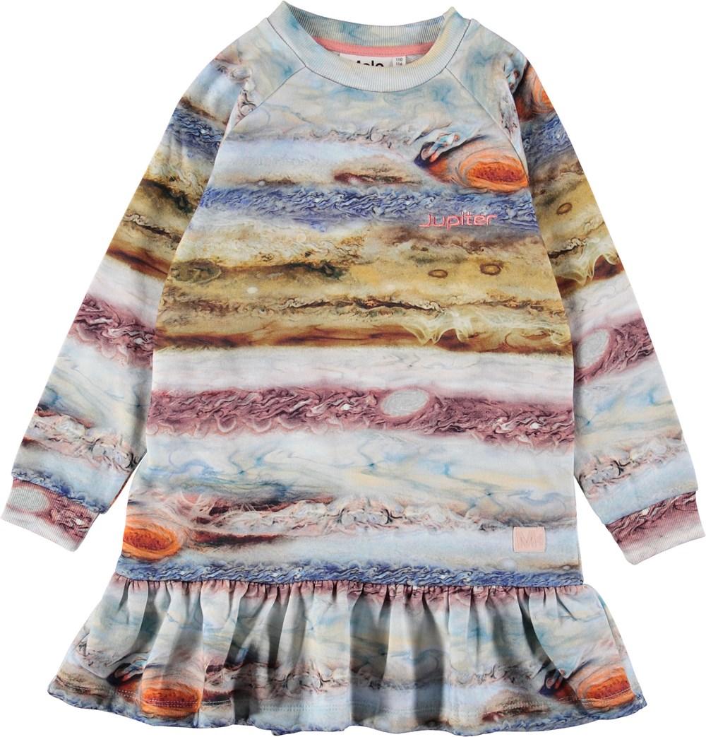 Carlotta - Stormy Jupiter - Sweatshirt kjole med striber.