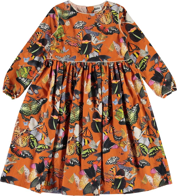 Cassiopeia - Papillon Orange - Orange sommerfugle kjole