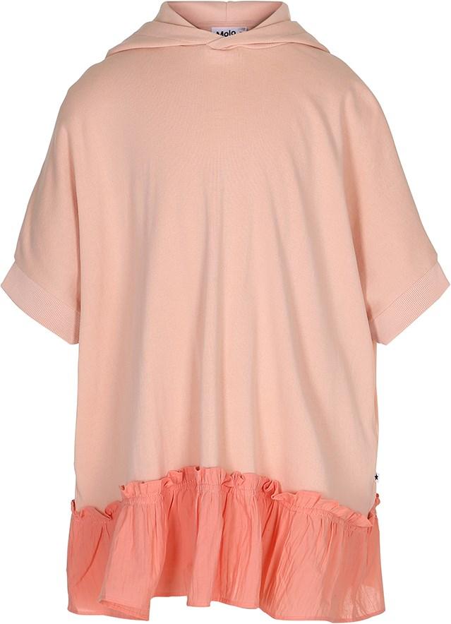 1eadc64c3274 Caty - Pink Sand - Oversize lyserød kjole med hætte - Molo