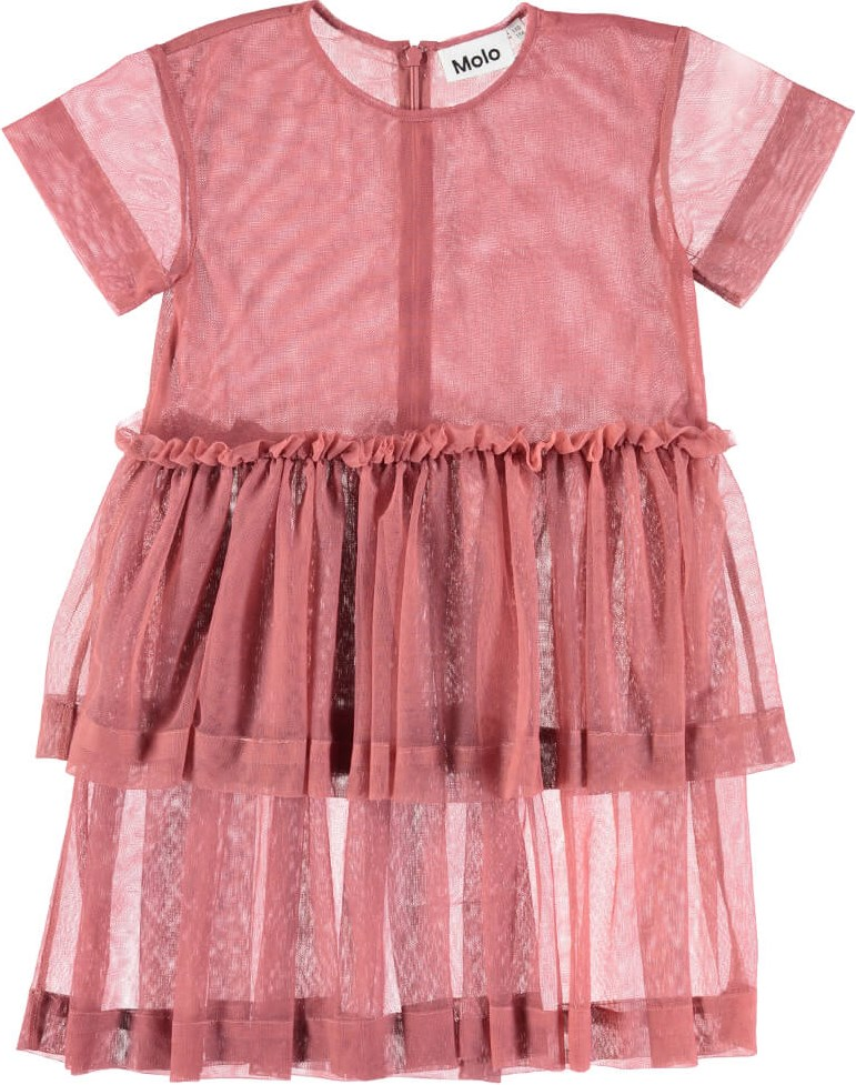 Cecilia - Blush - Blommefarvet kjole i tyl