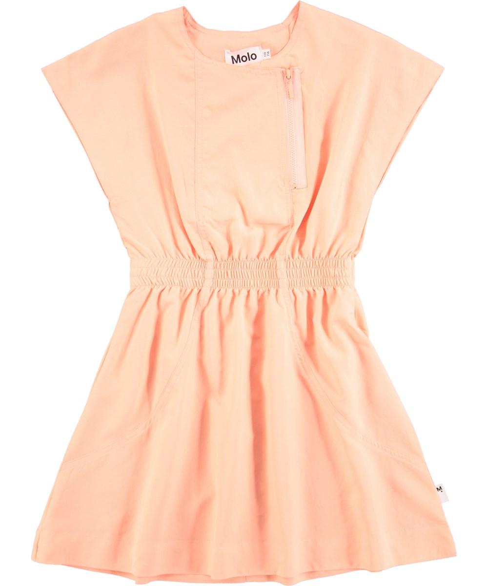 f35823bea814 Cezanne - Pink Sand - Sporty peachfarvet kjole - Molo