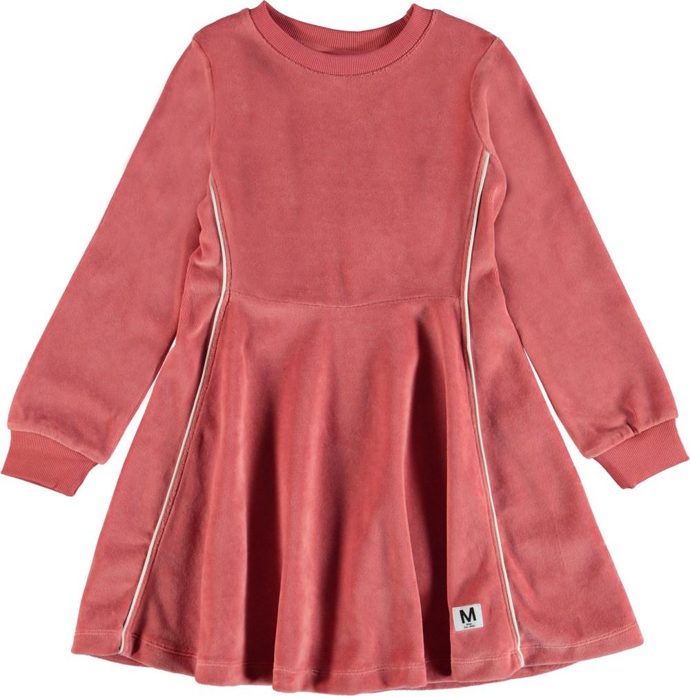 Chalica - Rare Orchid - Langærmet velour kjole.