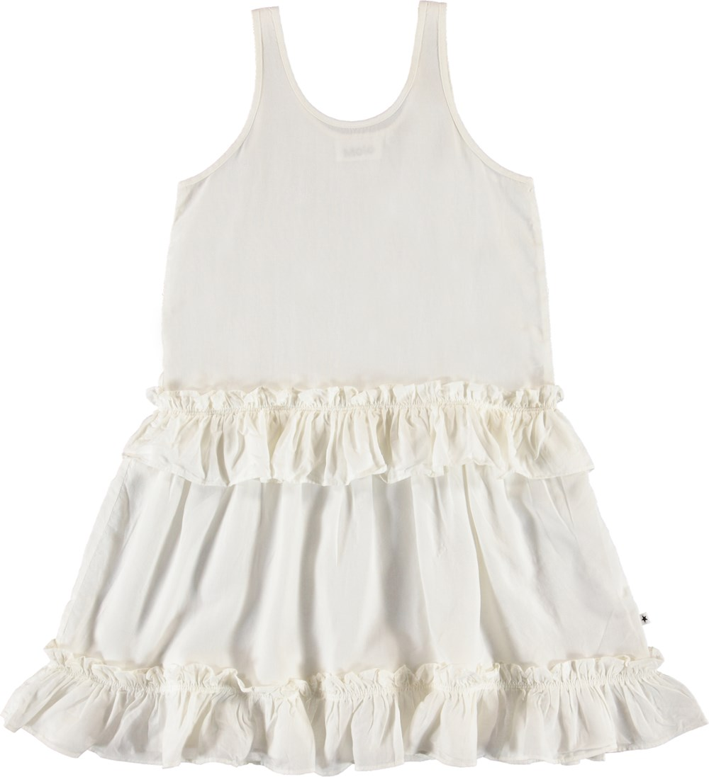 Charlotte - White Star - Hvid draperet kjole