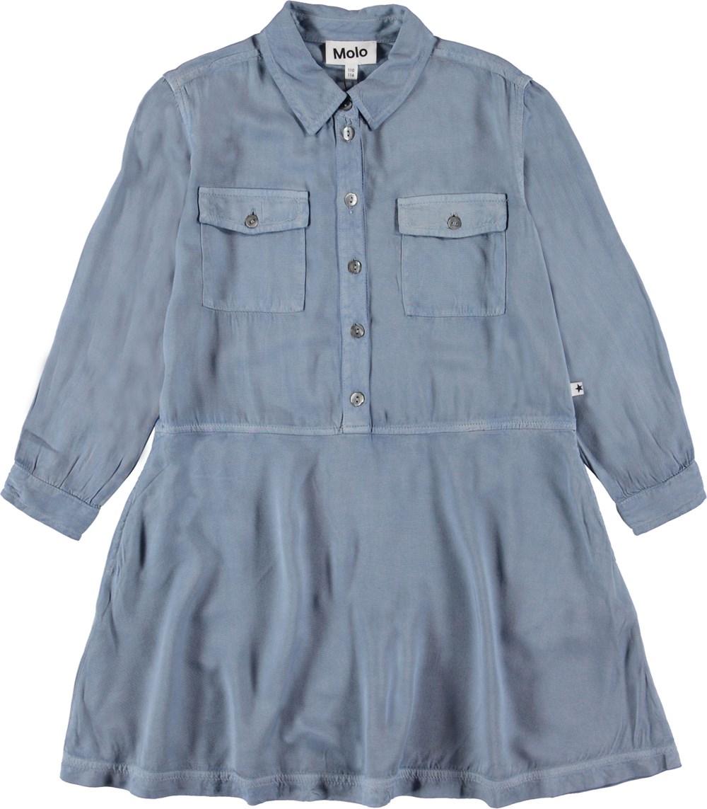 Chevonne - Winter Sky - Blå skjorte kjole.