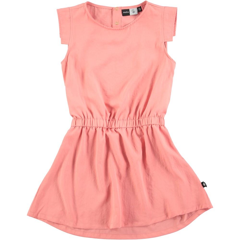 Chrisette - Spicy Pink - lyserød kjole med elastisk talje