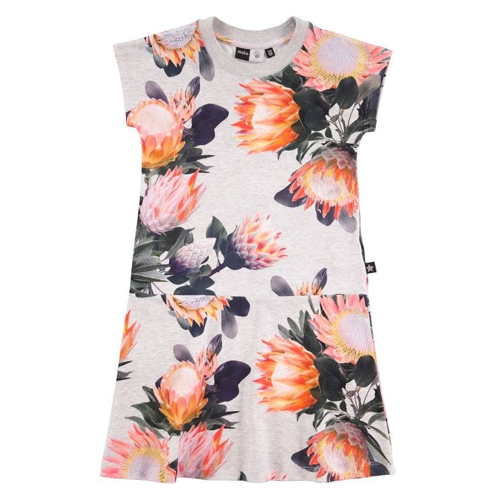 Cissy - Sugar Flowers - kortærmet sporty kjole med blomsteprint