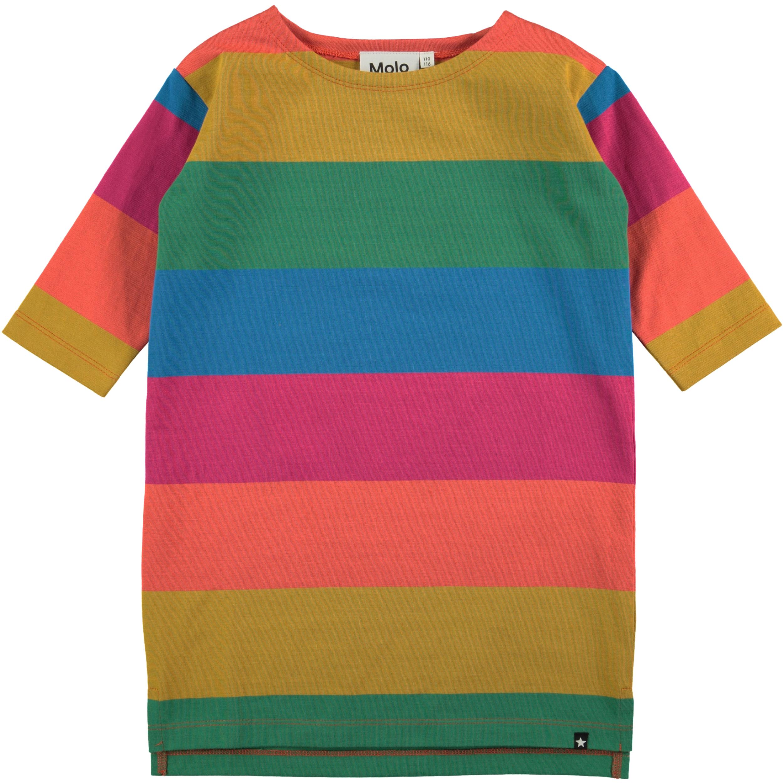 a92d3e44c7d2 Stribet Colore Tutticolori Molo Farver Kjole I Regnbuens CSRwUqz