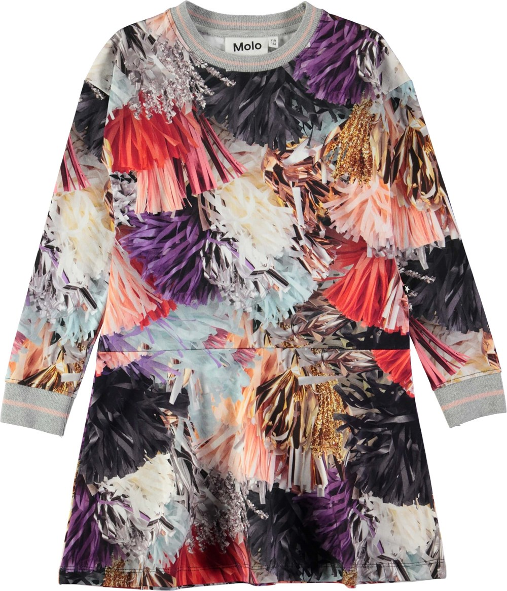 Conny - Celebration - Sporty kjole med digitalprintede, festlige kvaster