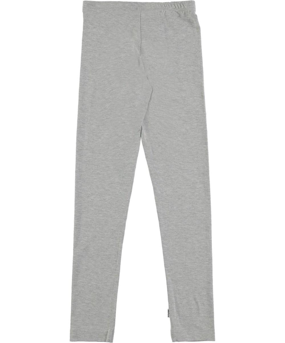 Nica - Light Grey Melange - Økologiske grå leggings