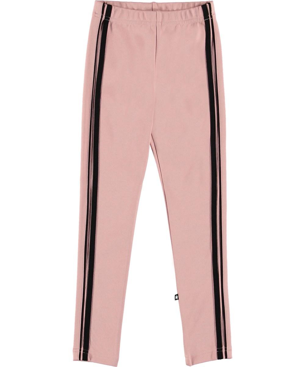 Nicolette - Rosewater - Lyserøde leggings med stribe.