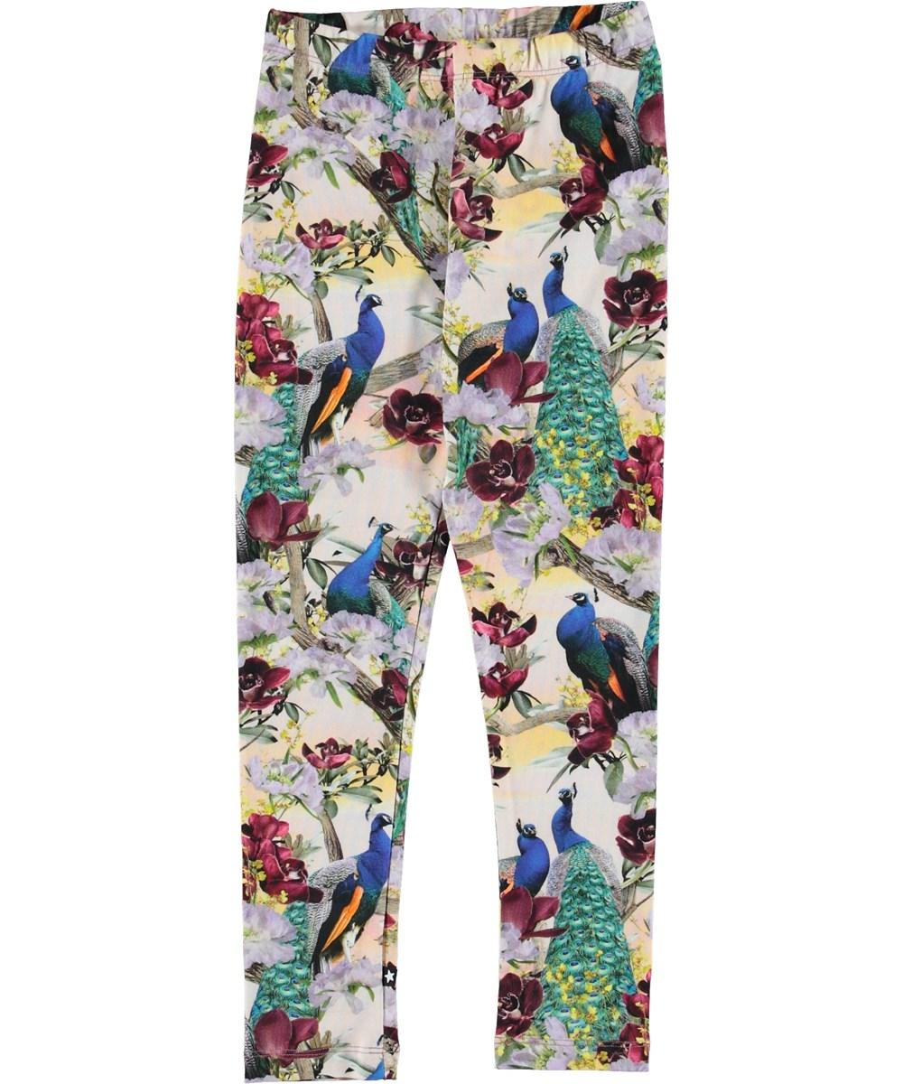 Niki - Oriental Peacocks - Leggings med påfugle.