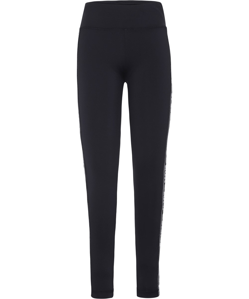 Odette - Black - Sorte sports leggings