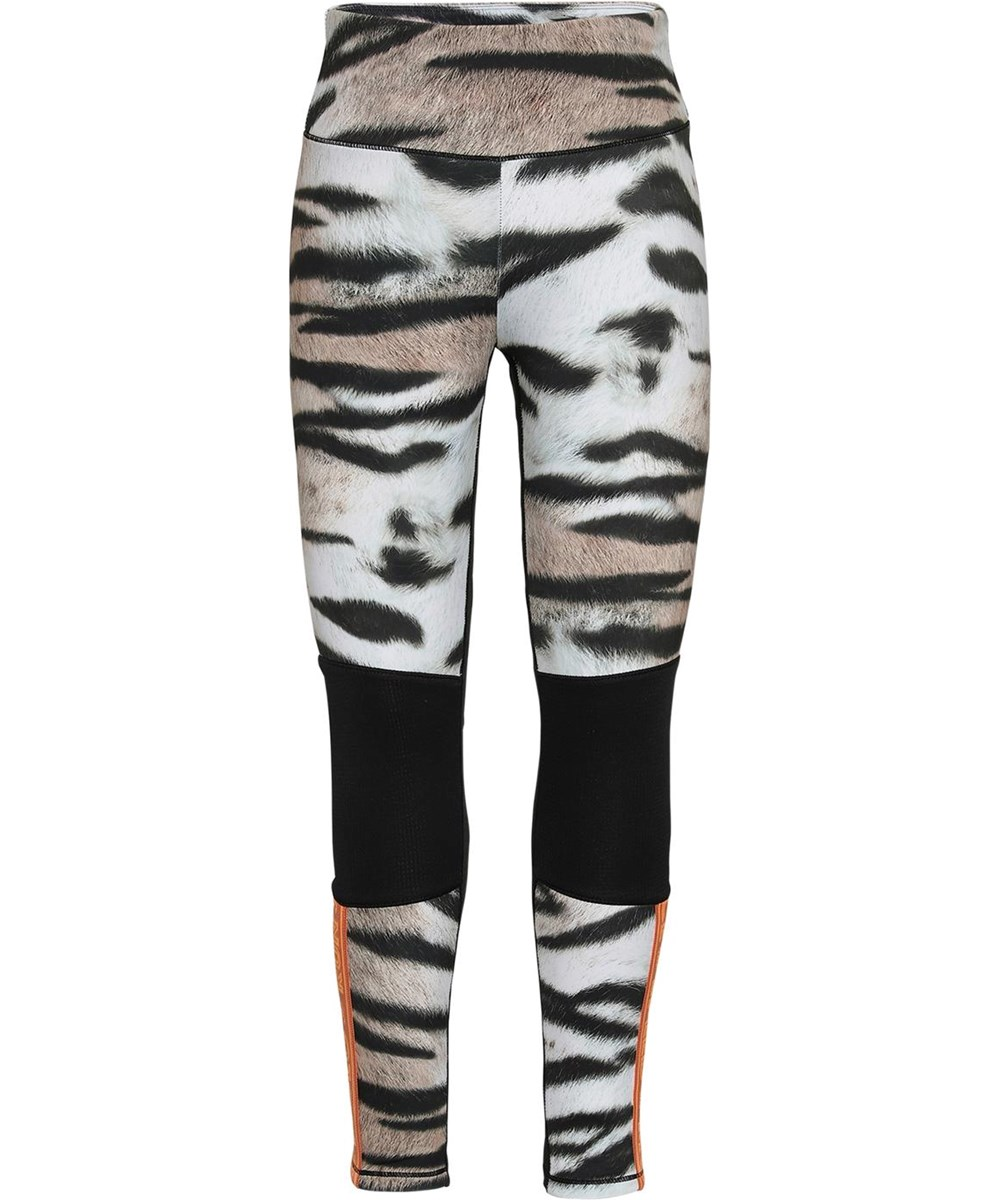 Olympia - Wild Tiger - Tiger sports leggings sorte knæ