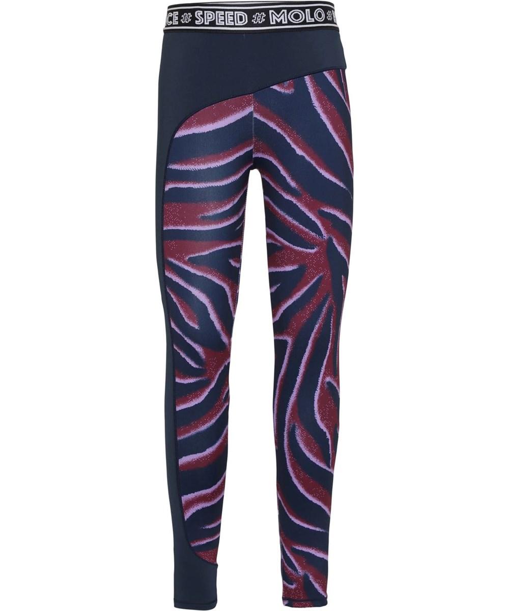Olympia - Zebra Stripes - Sport leggings med zebra print