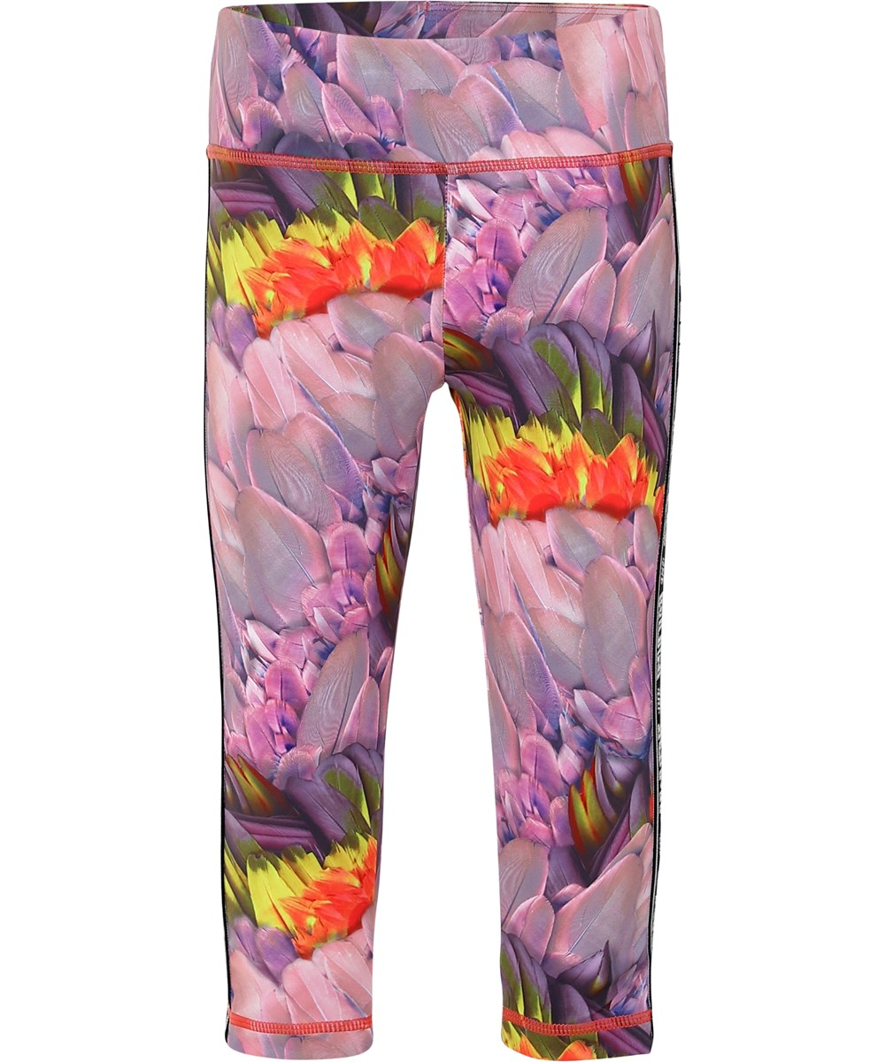 Orlaith - Cacatua - Blomstrede korte sports leggings