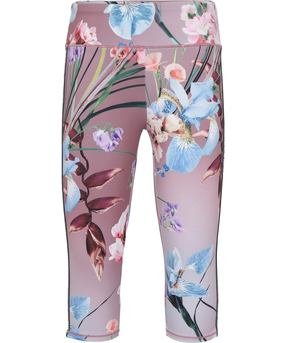 Orlaith - Motion Flowers - Korte blomster leggings