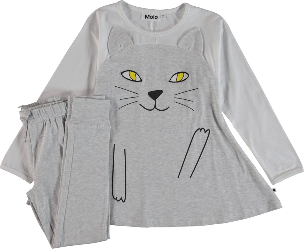 LilCat - Light Grey Melange - Nattøj