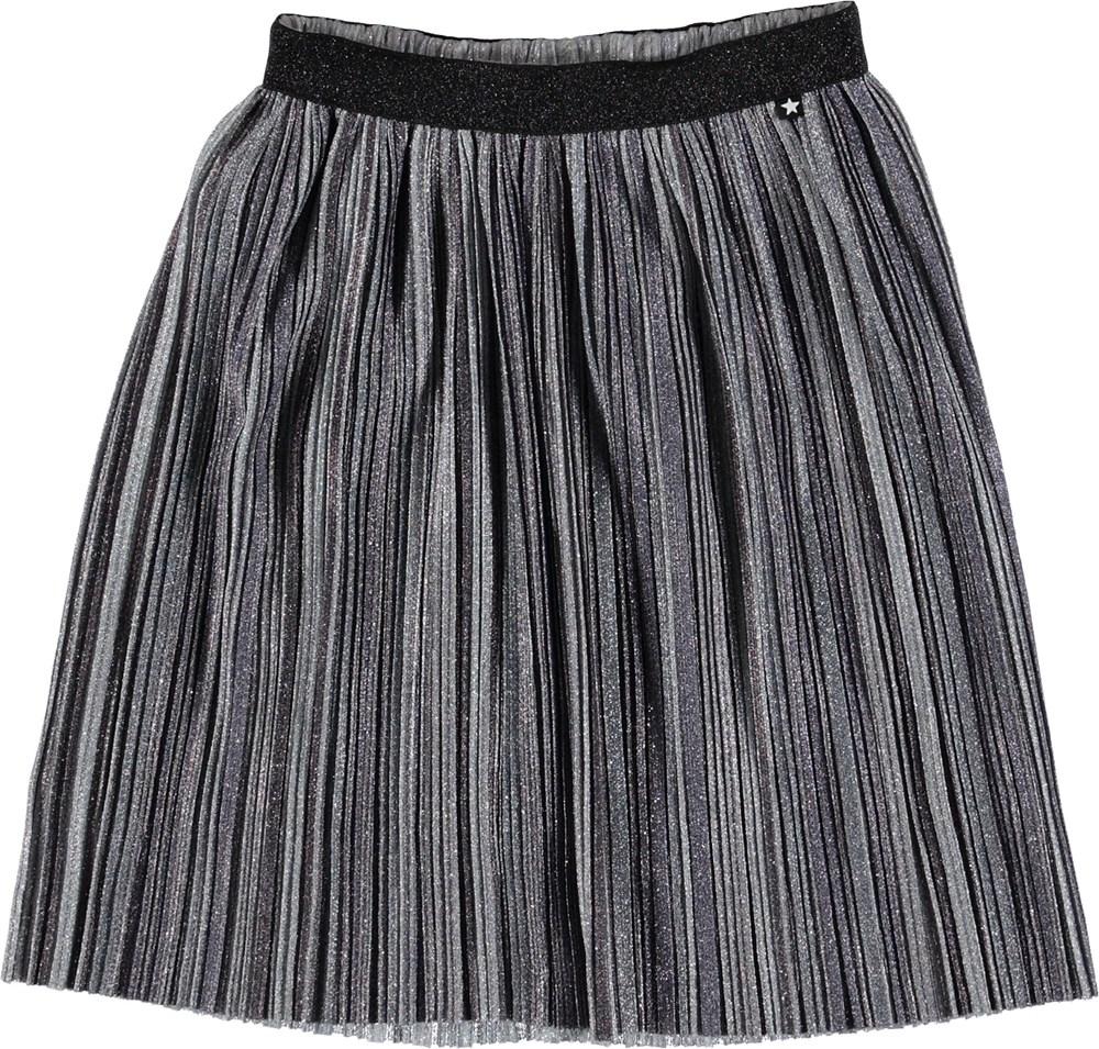 Bailini - Silver - Sølv nederdel med glimmer.