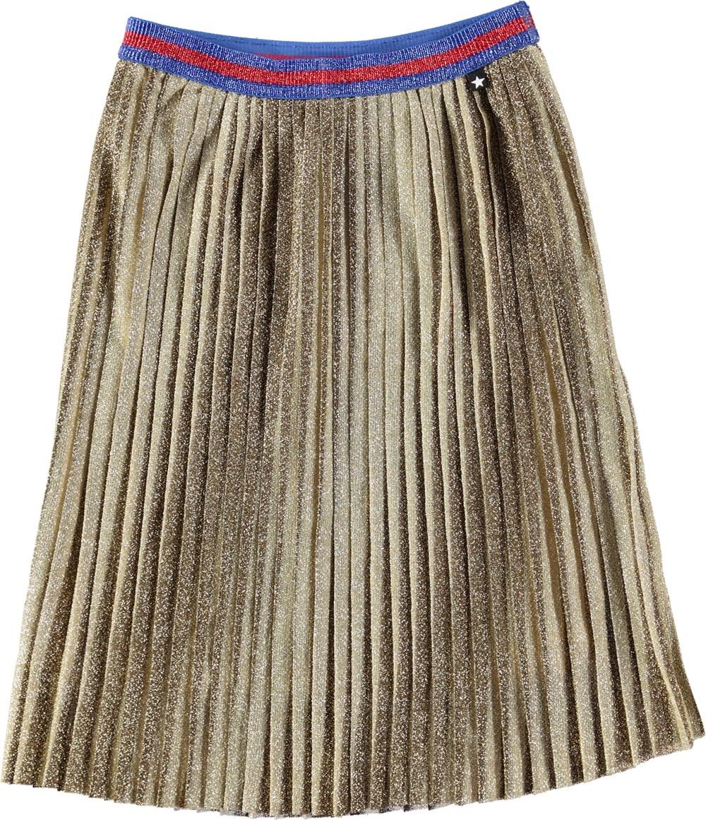 Bailini - Gold - Guldfarvet midi skirt