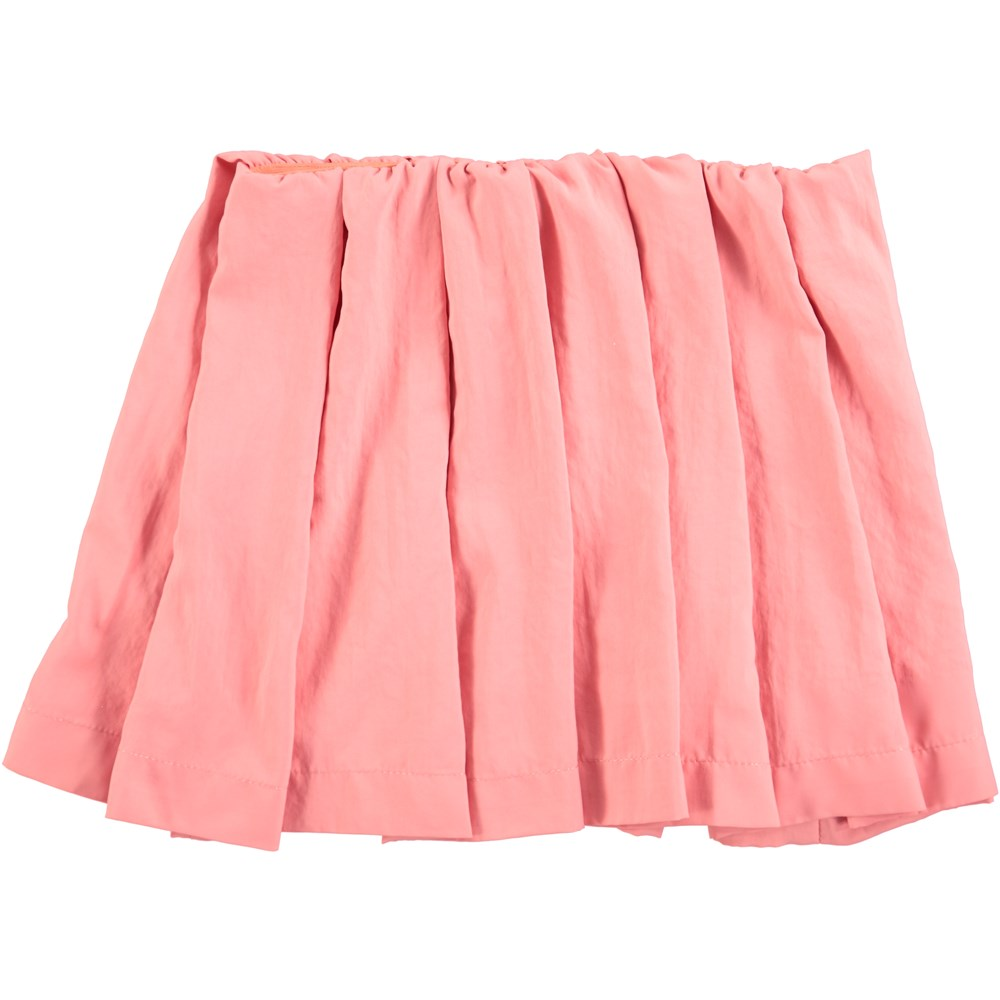 Beate - Spicy Pink - lyserød plisseret nederdel