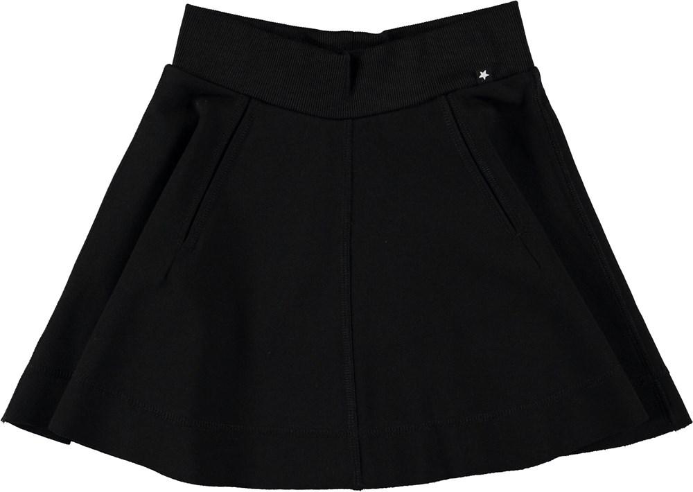 Bjoerk - Black - Sort skater nederdel.