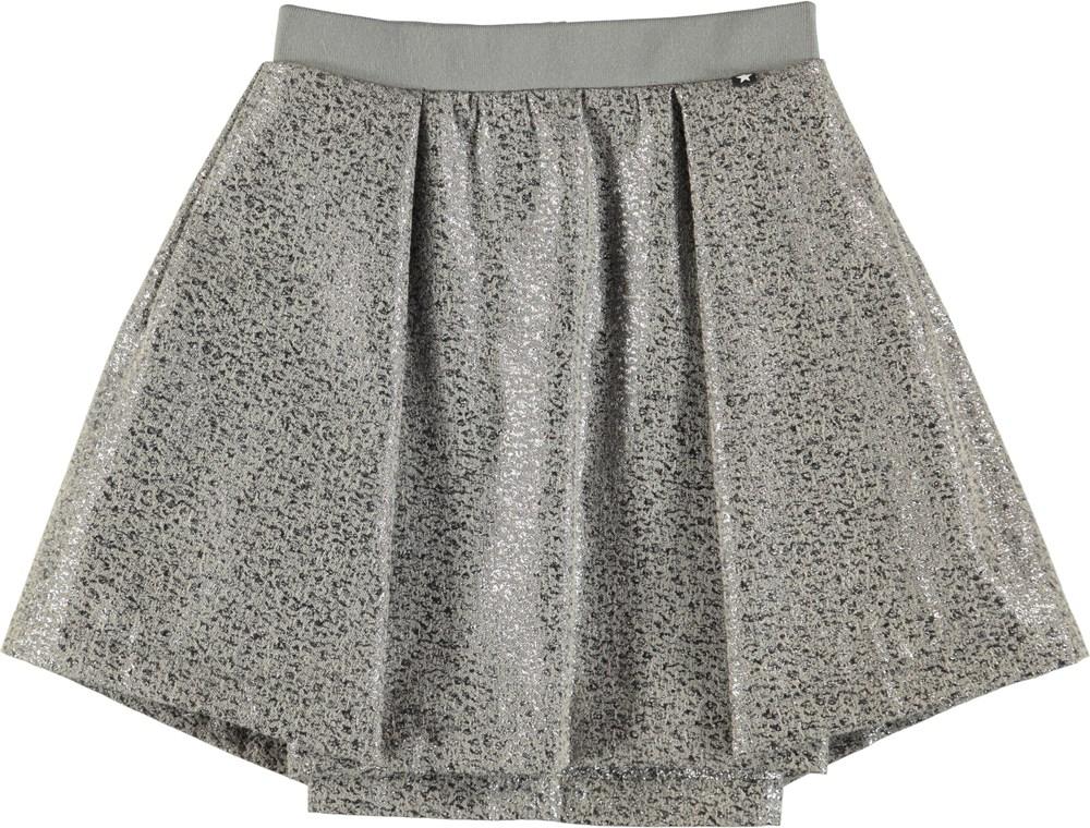 Bree - Silver Jaquard - Sølvfarvet jaquard nederdel
