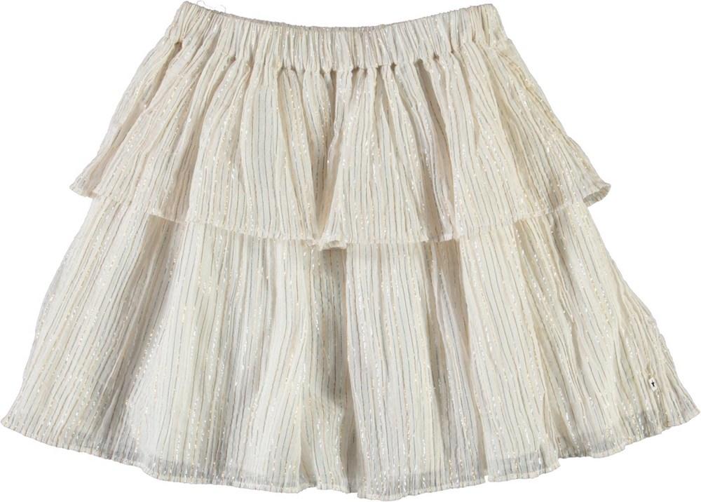 Brooke - Metalic Stripe - Nederdel med metallic striber