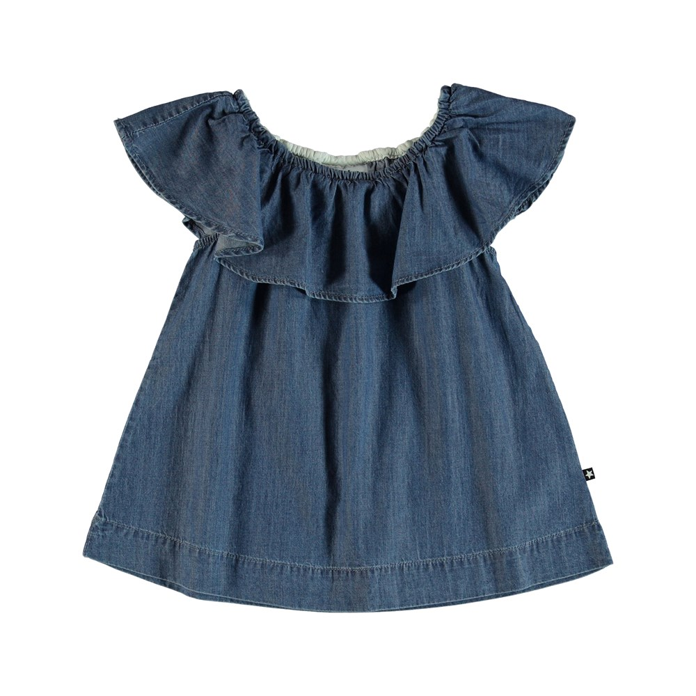 Reece - Washed Indigo - Bluse - Washed Indigo