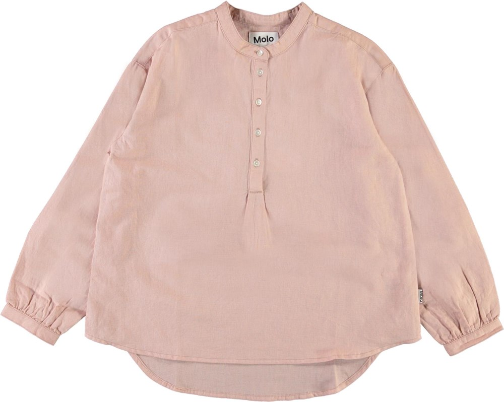 Rusla - Petal Blush - Rosa oversized skjorte