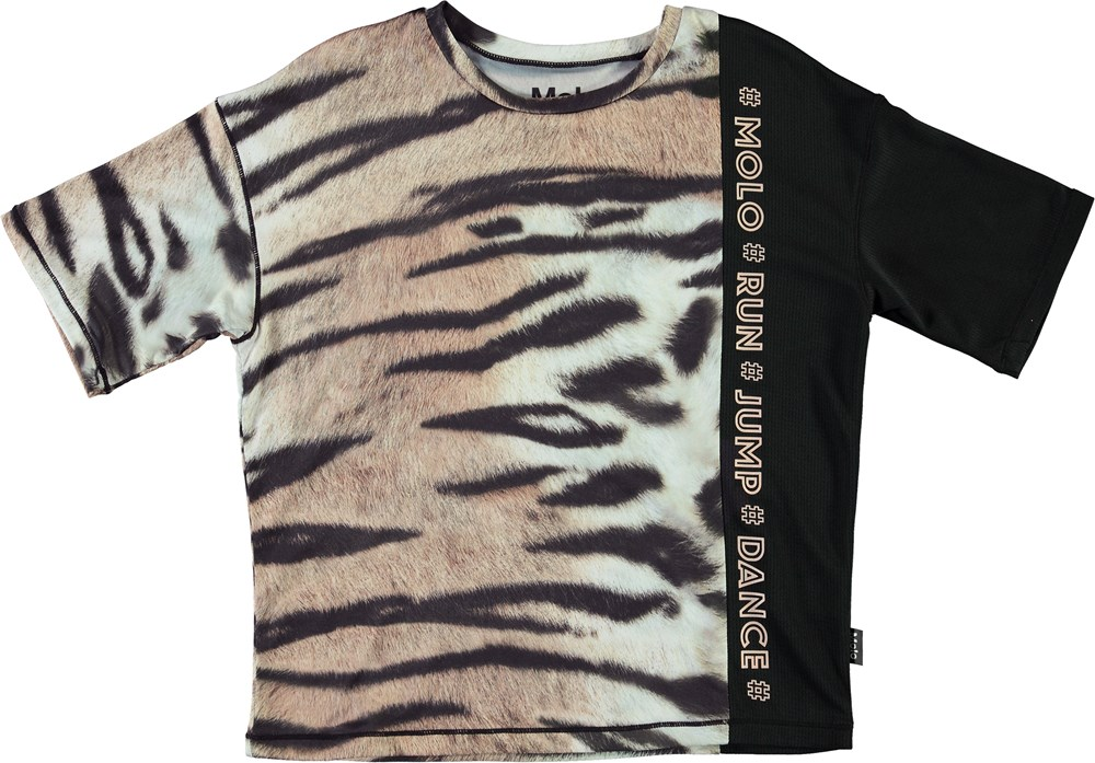 Odessa - Wild Tiger - Sports t-shirt i med tiger print