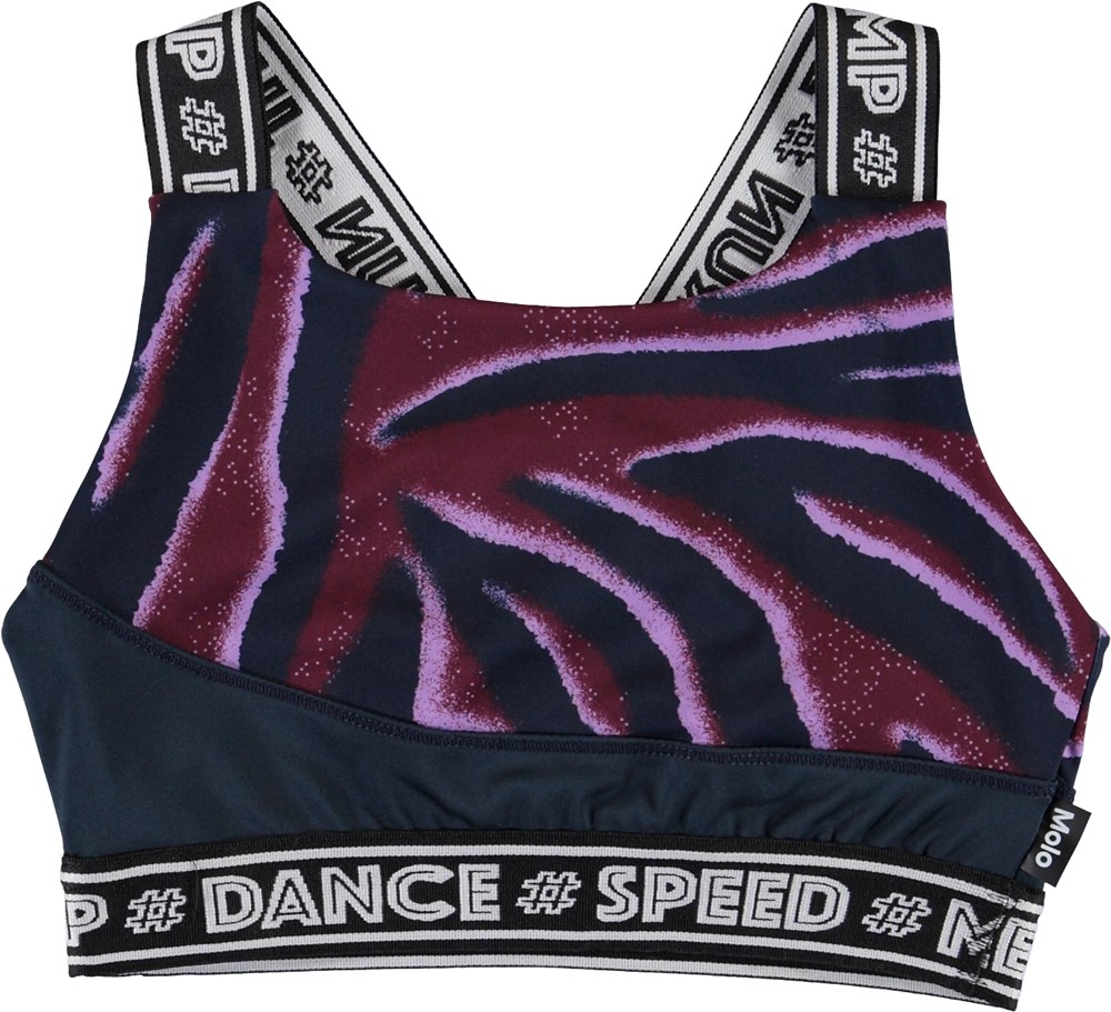 Olivia - Zebra Stripes - Sports top med zebra print
