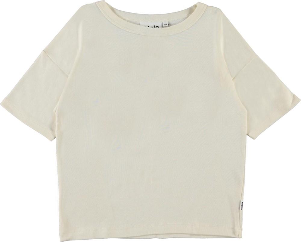 Rabecke - Pearled Ivory - Økologisk perlemors t-shirt