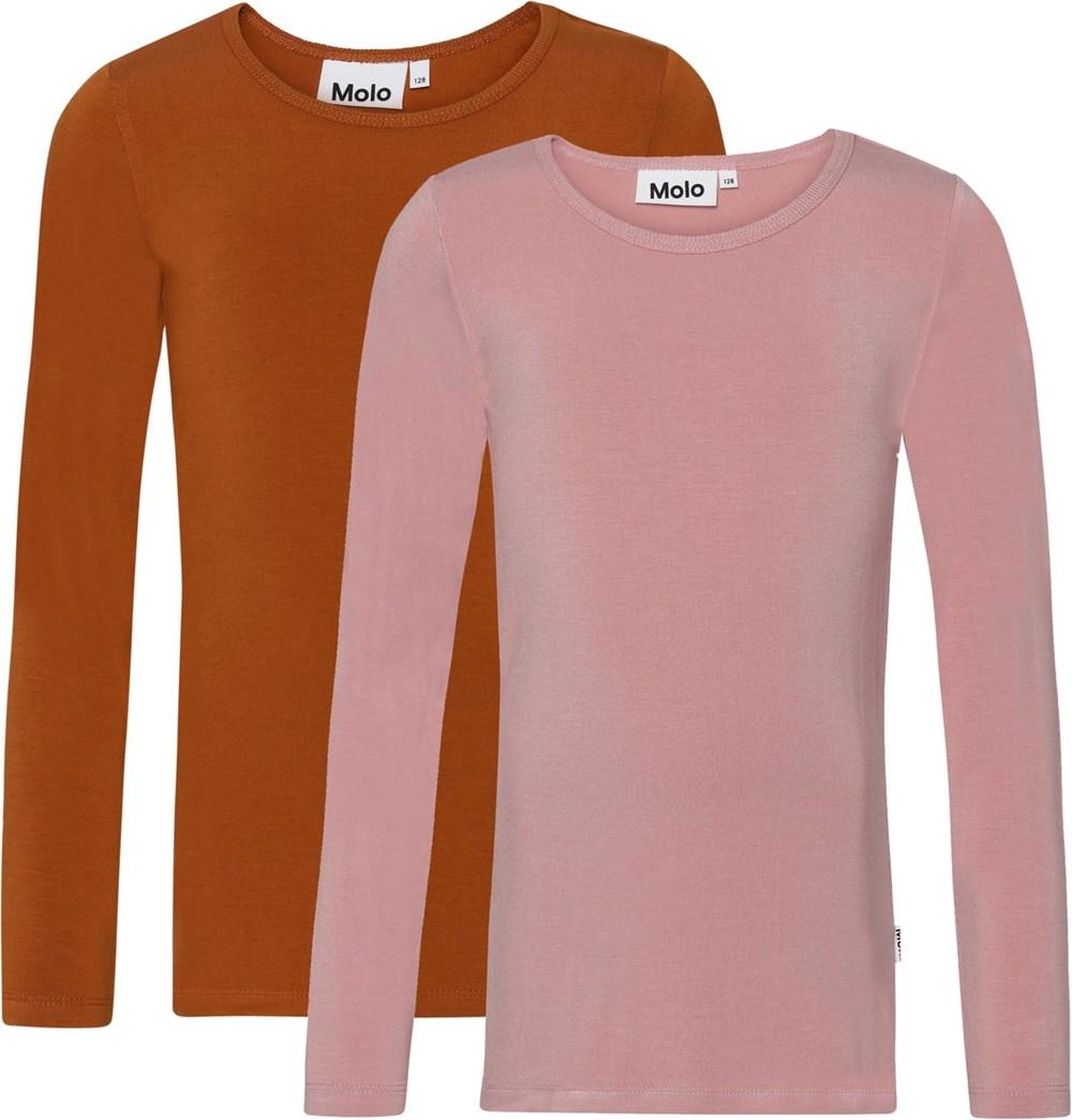 Ramona 2-Pack - Autumn Rose - Økologisk 2-pack i brun lyserød