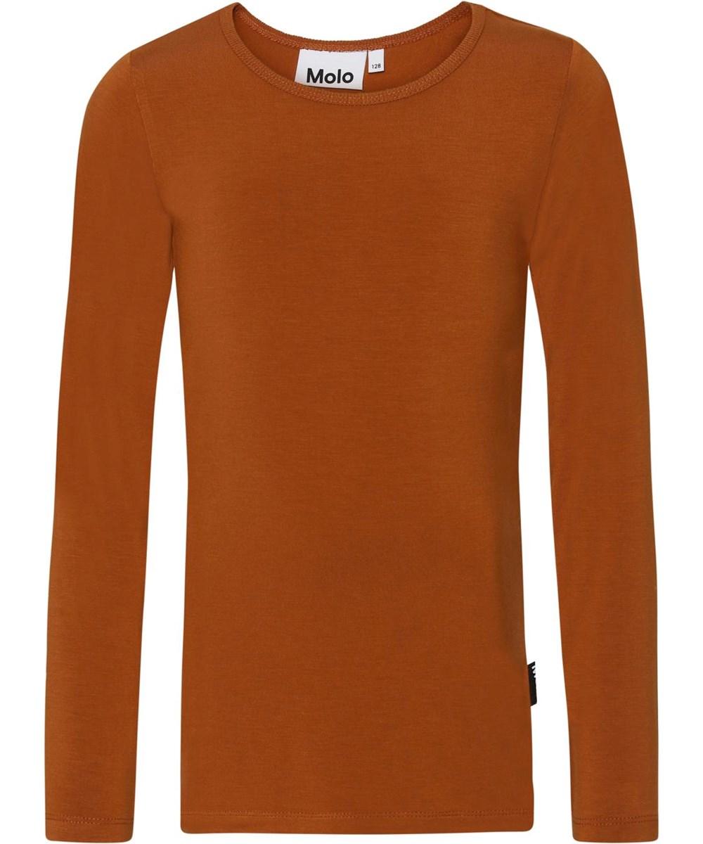 Ramona - Autumn - Brun jersey bluse