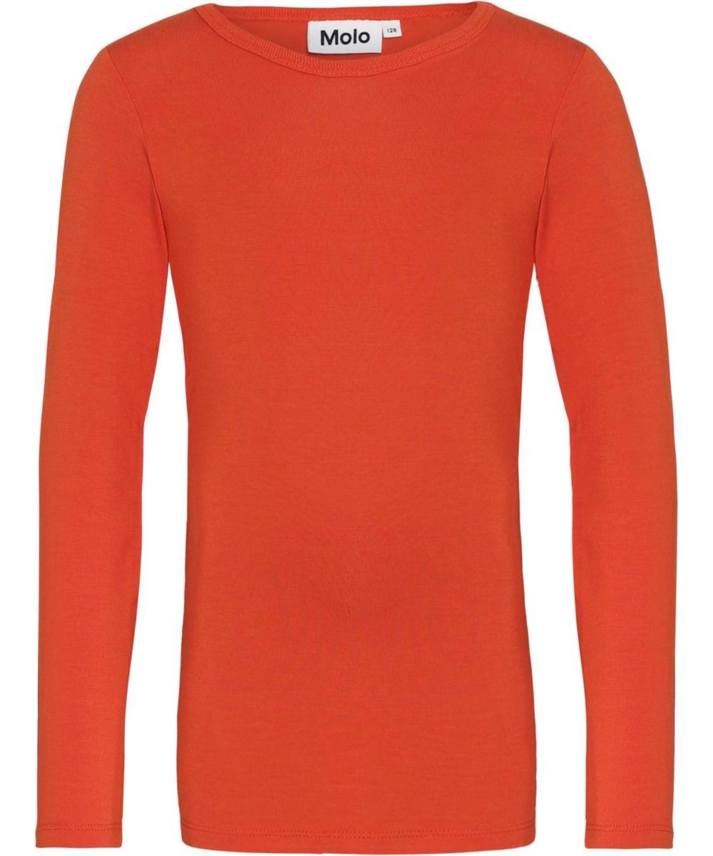 Ramona - Rising Sun - Orange jersey bluse