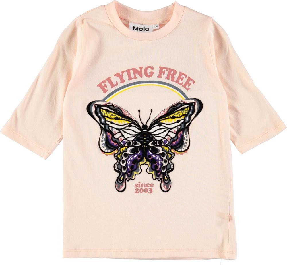 Ranita - Dawn - Trekvartærmet t-shirt med sommerfugl