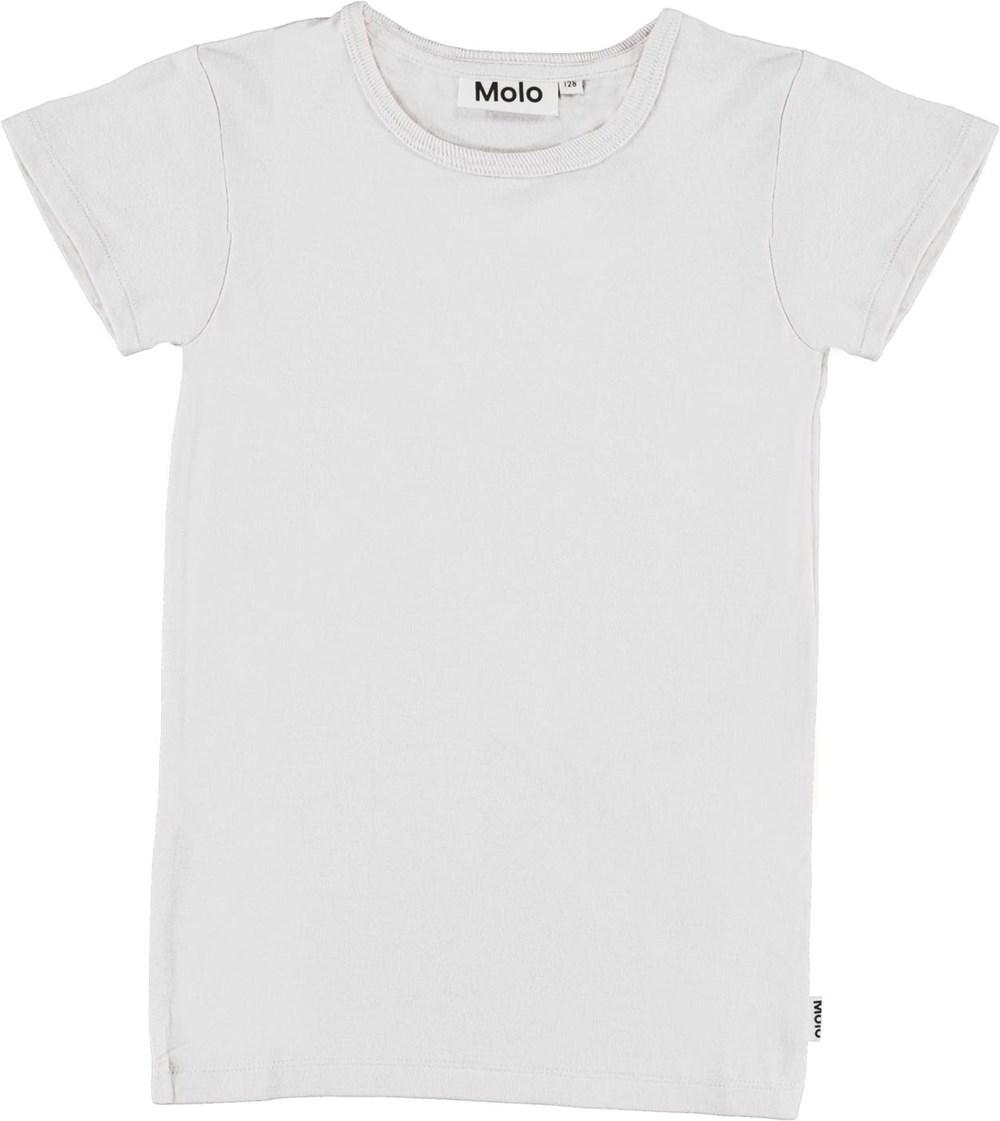 Rasmine - White - T-shirt i hvid