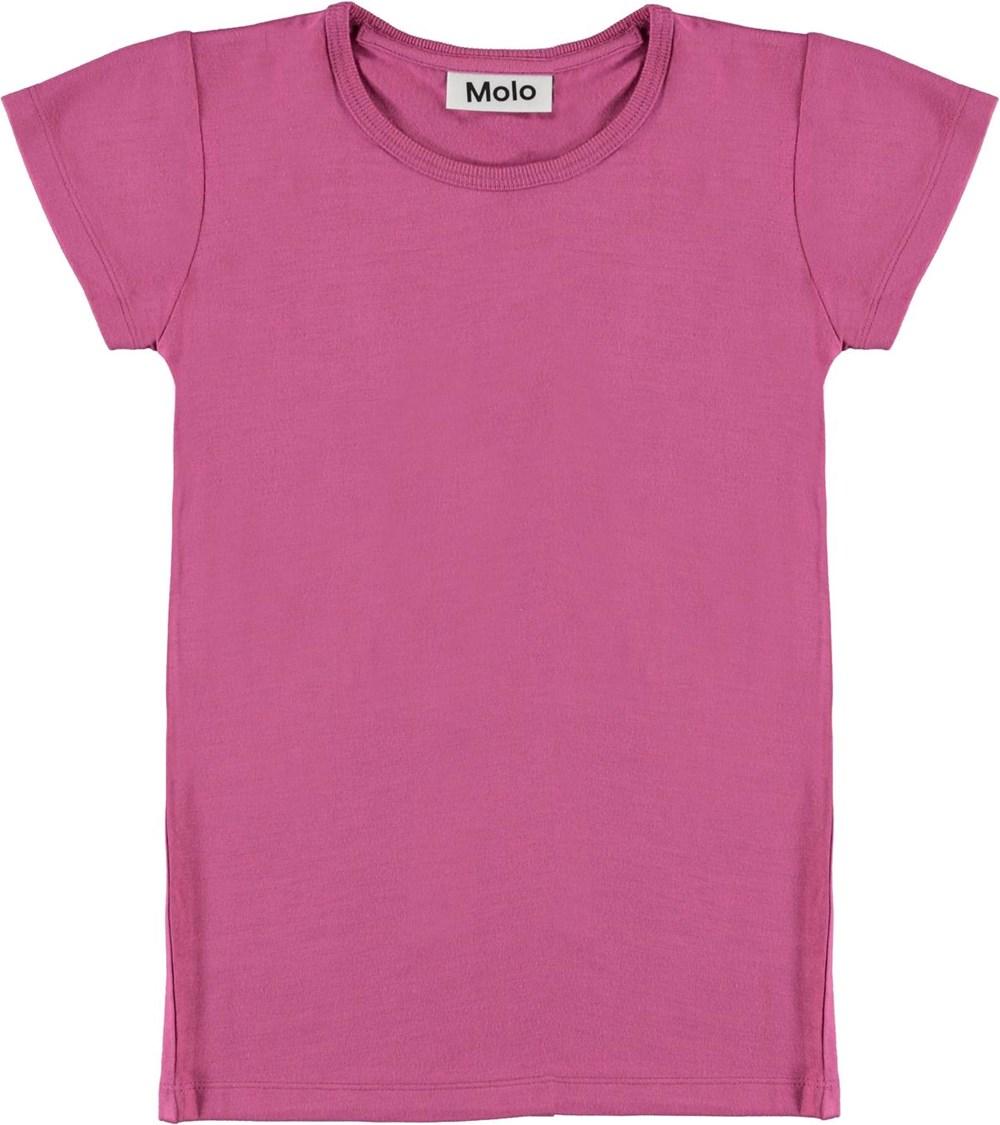 Rasmine - Wildrose - T-shirt i fuchsia