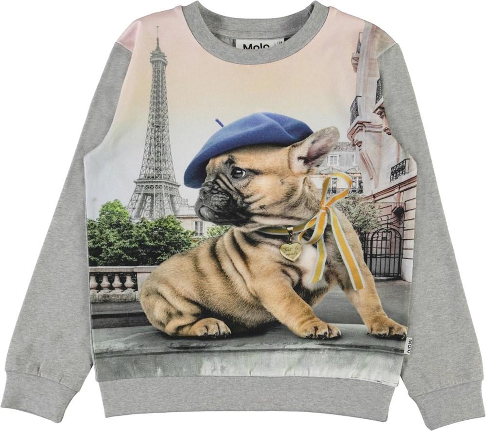 Regine - Tout Le Monde - Bluse med eifeltårn og fransk bulldog