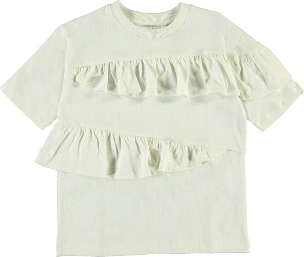 Rei - White Star - Hvid t-shirt med flæser