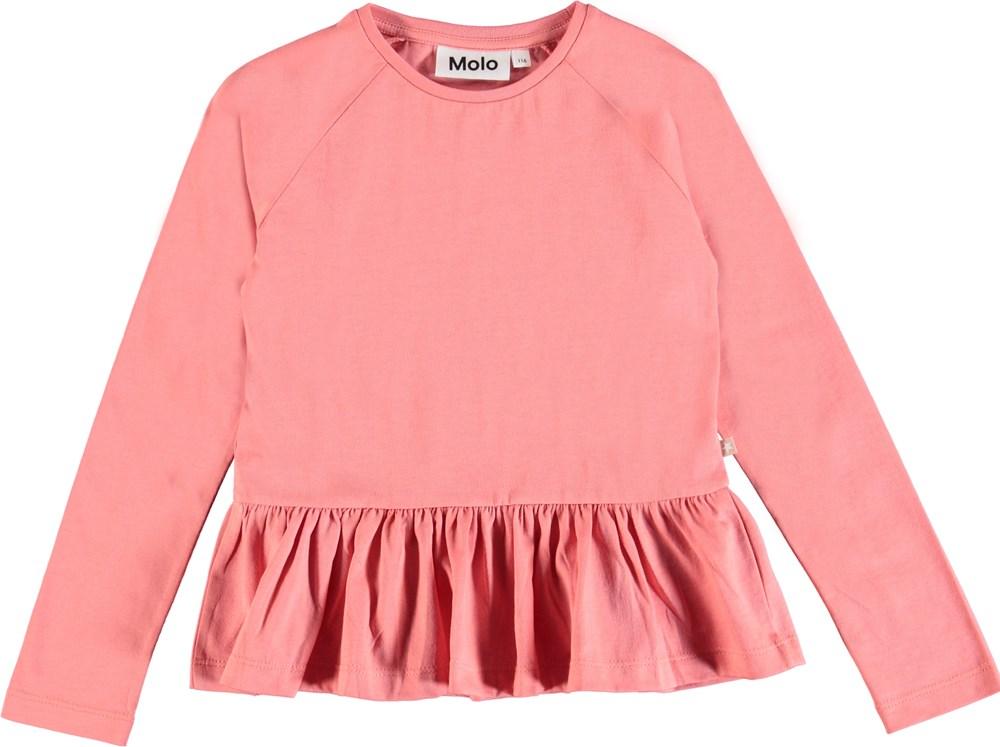 6df0aa29d978 Renata - Rare Orchid - Langærmet rosa peplum bluse. - Molo
