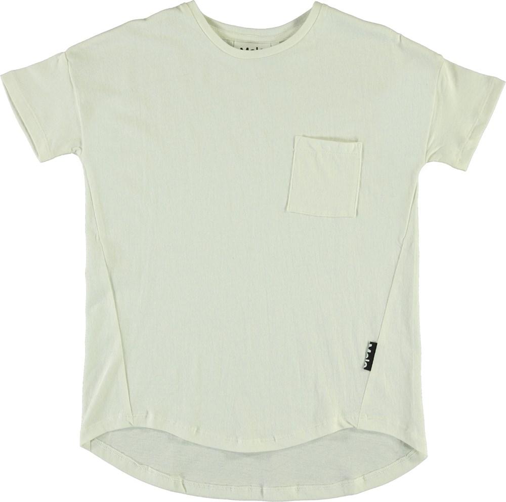 Renessa - White Star - Hvid t-shirt med lomme