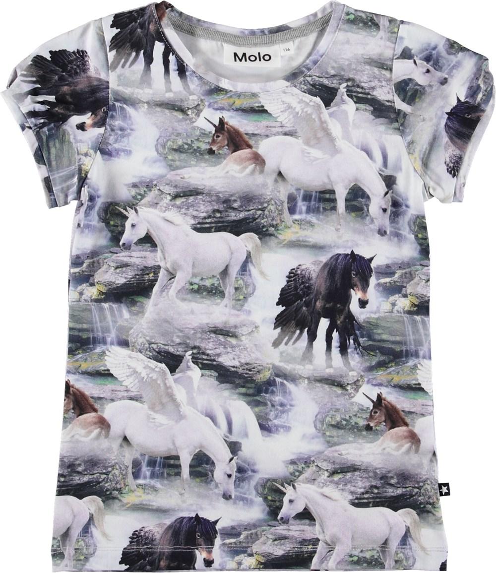 Rimona - Mythical Creatures - T-shirt med enhjørninge.