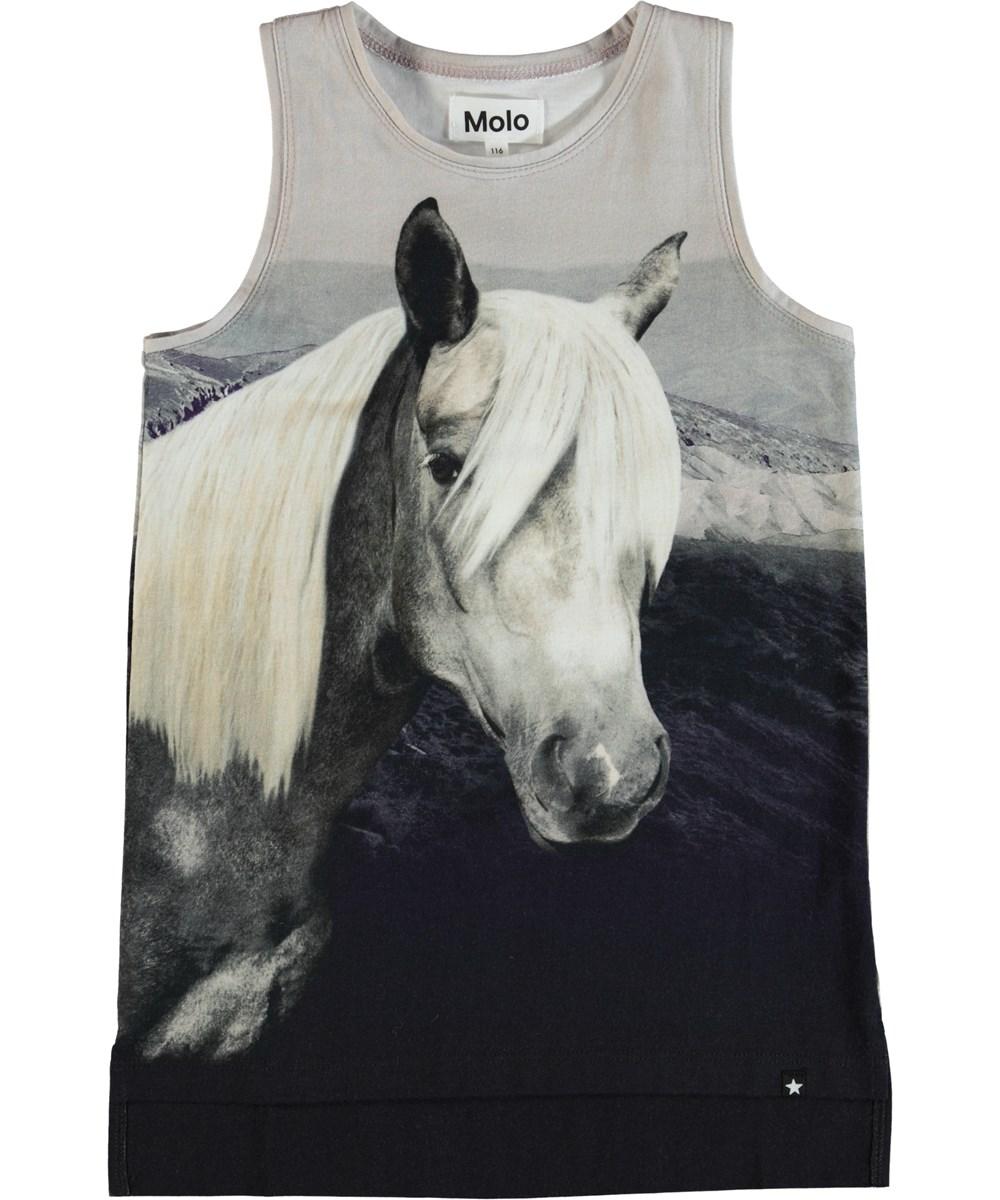 Ro - Beauty - Top med hest på fronten