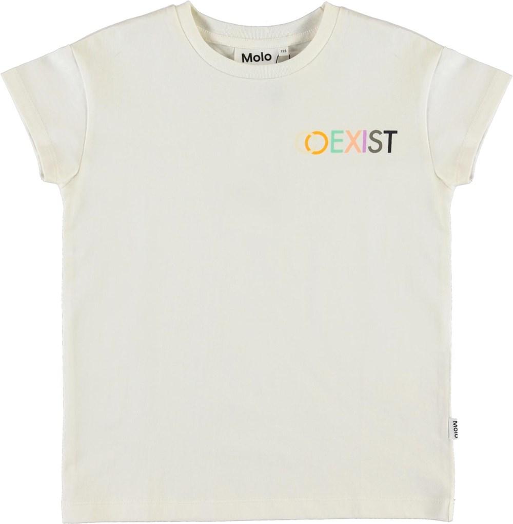 Robine - White Star - Økologisk hvid co-exist t-shirt