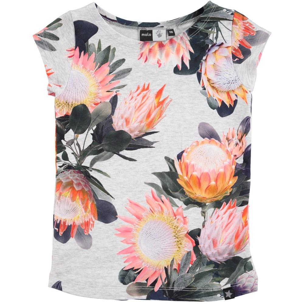 Robinette - Sugar Flowers - kortærmet t-shirt med blomsterprint