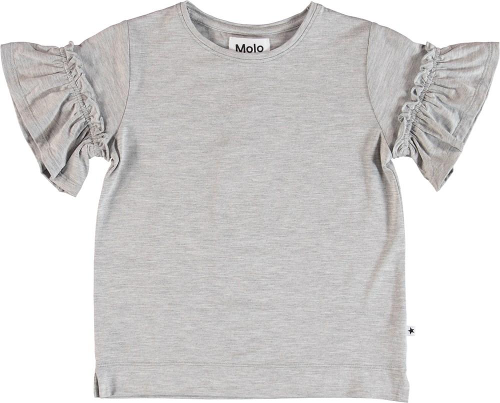 Rosarja - Light Grey Melange - T-Shirt