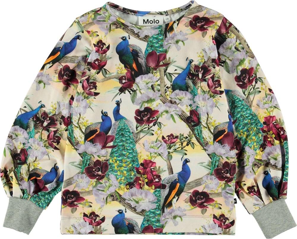 Rylee - Oriental Peacocks - Bluse med påfugle.
