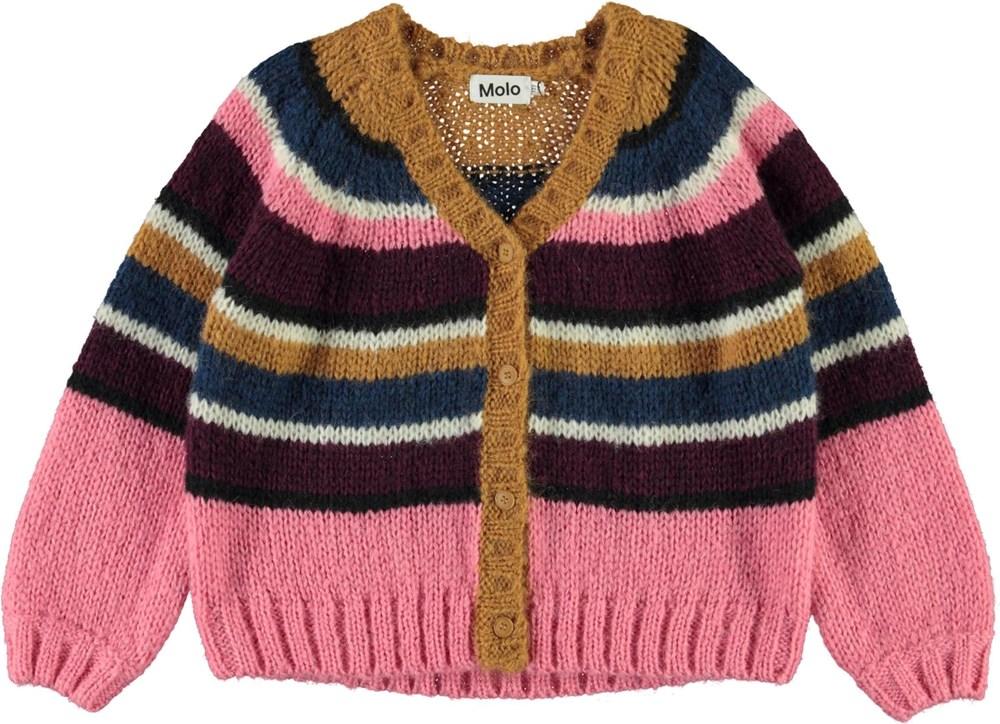Gail - World Stripe - Stribet strik cardigan