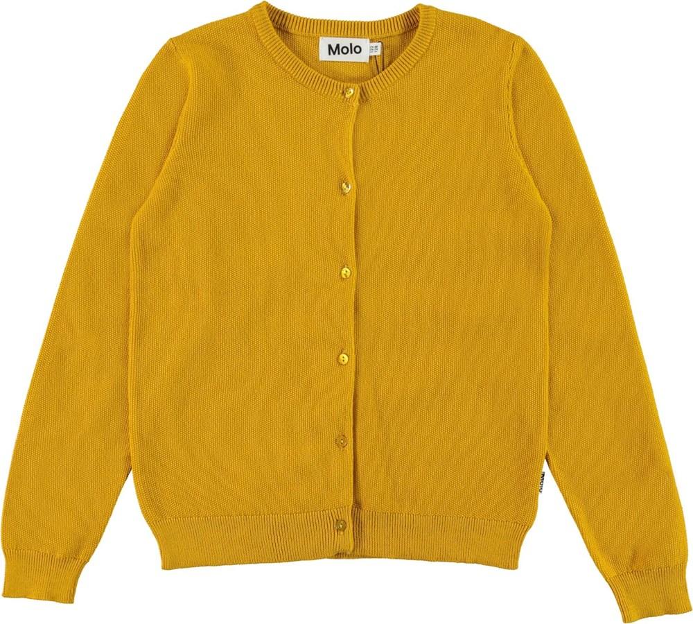 Georgina - Nugget Gold - Gul økologisk bomulds cardigan